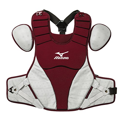 Mizuno 380321.1291.01.0000 Samurai Chest Protector (15'') One-Size Cardinal-Grey, Red Grey by Mizuno