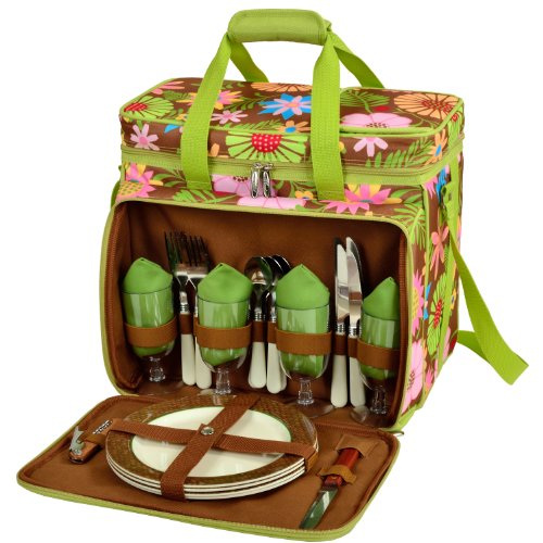 Picnic at Ascot Equipped Insulated Picnic Cooler with Ser...
