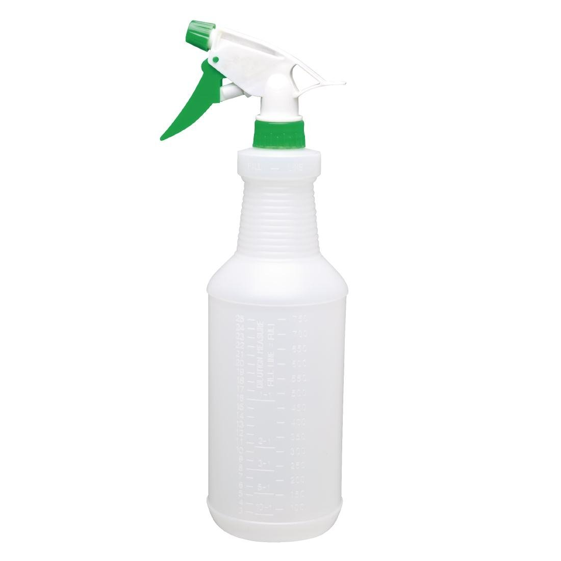 Jantex CD818 - Botella de plástico con pulverizador, 750 ml, color verde