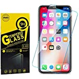 unipha NEWBEST Screen Protector for Apple iPhone Xs MAX/iPhone 11 Pro Max 6.5- Inch, Tempered Glass Films, 2-Pack, 9H Hardnes