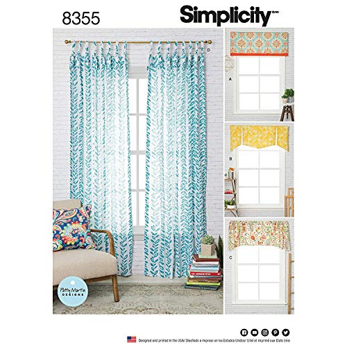 Simplicity 8355 Window Treatment Valance & Panels Sewing for sale  Delivered anywhere in USA