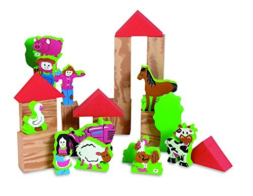 Edushape My Soft World Foam Blocks - Farm by Edushape