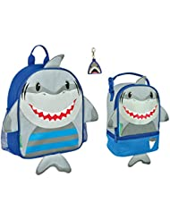 Stephen Joseph Boys Mini Sidekick Shark Backpack and Lunch Pal with Zipper Pull