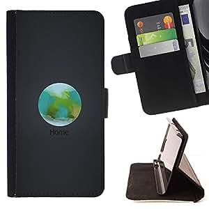 Momo Phone Case / Flip Funda de Cuero Case Cover - Orbit Inicio La Tierra;;;;;;;; - Samsung Galaxy E5 E500