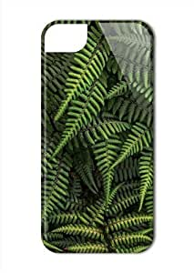 Case Fun Apple iPhone 5 / 5S Case - Vogue Version - 3D Full Wrap - Ferns hjbrhga1544