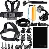 Zookki Accessories Kit for GoPro 6 Hero 5 Session 4 Silver 3 Black SJ4000/SJ5000/SJ6 Legend/SJ7 Action Camera Accessories for Xiaomi Yi 4K/WiMiUS/Lightdow/DBPOWER