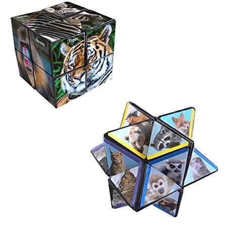 California Shaped Puzzle - StarCube Wildlife 2 Piece Puzzle Cube