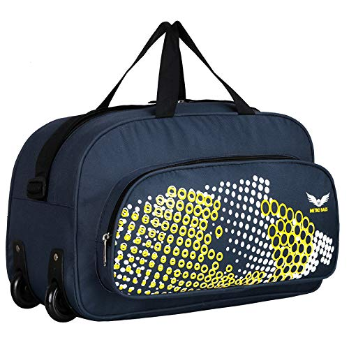 Metro Bags Polyster 18 inch Travel duffels Nylon Expandable Duffel Strolley Bag  Navy