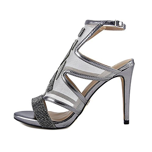 Ankle US Pewter Womens Special Occasion Thalia Fabric Sodi Strap Regalo Sandals Open Toe FwqnpSPx