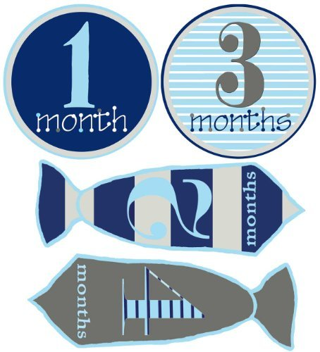 Baby Boy Stickers Monthly Baby Stickers 1-12 Months Hand-drawn Neckties and Circles Little Man Stickers by Mumsy Goose - Kid Drawn Stickers