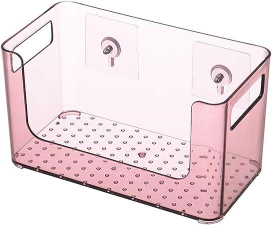 CHENYU Bolsa de Almacenamiento de Pared para Cocina, baño, Organizador de Maquillaje Transparente, Estuche de Almacenamiento de cosméticos, Caja de Almacenamiento de plástico: Amazon.es: Hogar