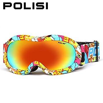 lesunhug (TM) Polisi Niños Invierno Resistente Al Viento de esquí snowboard gafas Outdoor Sport