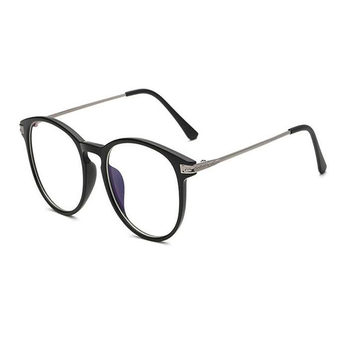 499f213902 Hzjundasi Luz azul Filtrar Computadora Gafas Anti-radiación UV Lente clara  Vintage Redondo Hombres/Mujer: Amazon.es: Ropa y accesorios