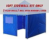 Cheap Eurmax 4 Sidewall for Eurmax Pop up Canopy Tent Gazebo (Blue, 10×10)
