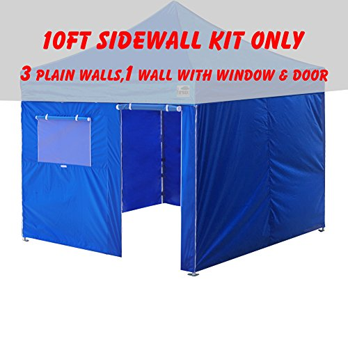 Eurmax Four Sidewalls for Pop up Canopy Enclosure Walls Kit Zipper End Attach With Velcro, Sidewalls Only (10x10, (Canopy Wall Kits)