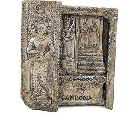 Imanes de nevera recuerdos Cambodia Angkor Watt Khmer hecho a mano ...