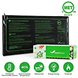 MET certified 2 Pack Seedling Heat Mat, Seedfactor Waterproof Durable Germination Station Heat Mat, Warm Hydroponic Heating Pad for Indoor Home Gardening Seed Starter(10'' X 20'')