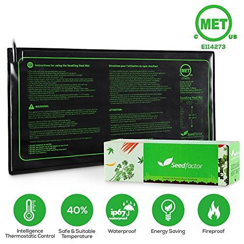 10 X 8 Greenhouse (MET certified 2 Pack Seedling Heat Mat, Seedfactor Waterproof Durable Germination Station Heat Mat, Warm Hydroponic Heating Pad for Indoor Home Gardening Seed Starter(10