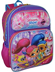 Nickelodeon Shimmer and Shine Girls Deluxe 3D Embossed 16 School Backpack