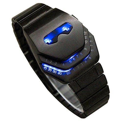 Vavna Men's Peculiar Cool Gadgets Interesting Amazing Snake Head Design Blue LED Watches WTH8021 ()