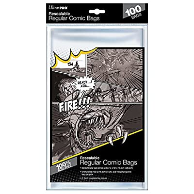 "UltraPro Regular Size 7-1/8"" X 10-1/2"" Resealable Comic Bags: Sports & Outdoors"