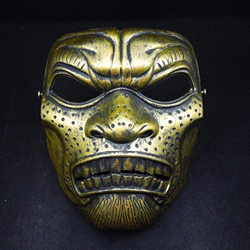 [Fashion Cosplay for Halloween Masquerade Carnival Party Prom Carnival Mask (Gold Warrior)] (Halloween Skeleton Mask)