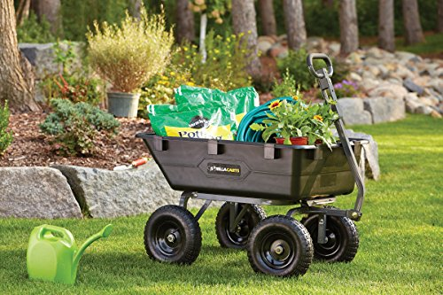 Gorilla Carts Gor6ps Heavy Duty Poly Yard Dump Cart With 2