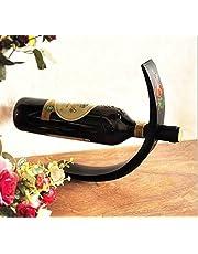 UGrace 1Pcs Creative Wooden Wine Rack Simple C Shaped Bottle Shelf Display Stand Home Bar Household Red Wine Bottle Holder Storage Organizer