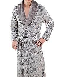 YOUAREFACNY Men's Fashion Shawl Collar Plush Robe 2017 New Nightwear Bathrobe