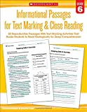 img - for Informational Passages for Text Marking & Close Reading: Grade 6: 20 Reproducible Passages With Text-Marking Activities That Guide Students to Read Strategically for Deep Comprehension book / textbook / text book