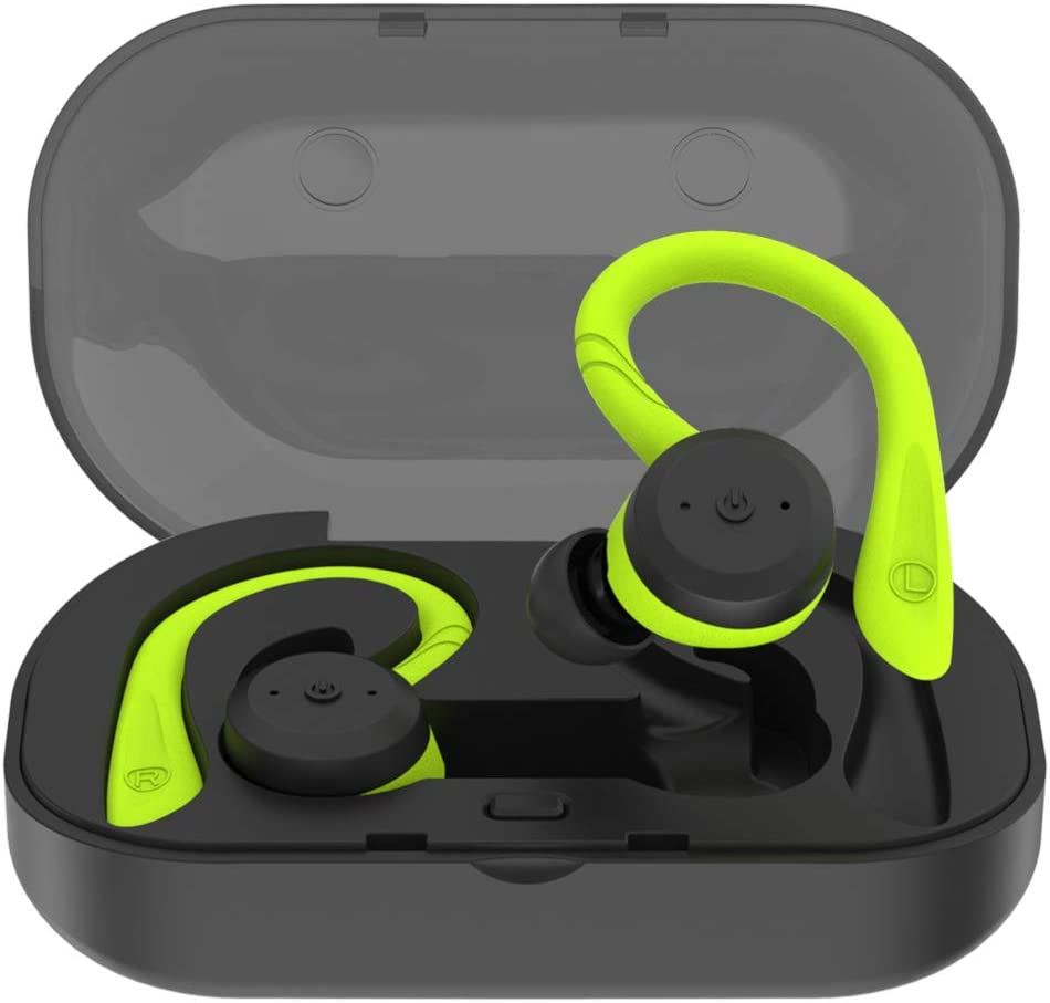 PRIXTON -Auriculares Bluetooth Deportivos/Auriculares Inalambricos Bluetooth, 4 Adaptadores |TWS151S
