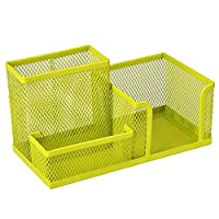 Homecube® Space Saving Mesh office supplies desk organizers/pen holder/cell phone holder/cosmetic holder 3 Sorter Sections