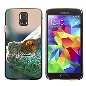 CASEMAX Slim Hard Case Cover Armor Shell FOR Samsung Galaxy S5- MYSTERIOUS CHAMELEON