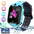 Kids Waterproof Smart Watch Phone, SZBXD LBS/GPS Tracker Touchscreen Smartwatch Games SOS Alarm Clock Camera Smart Watch Christmas Birthday Gifts for School Boy Girls