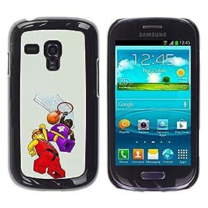 For Samsung Galaxy S3 III MINI (NOT REGULAR!) / I8190 / I8190N Case , Children'S Toy Constructor Art - Diseño Patrón Teléfono Caso Cubierta Case Bumper Duro Protección Case Cover Funda