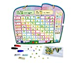 kids star chore chart - Chore Reward Chart for Multiple Kids with Magnetic Backing, 3 Dry Erase Markers and Storage Bag - Ele-fun Responsibility Star Chart, 16.4 X 13