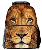 Rosing House Outdoor 3D Animal laptop Casual Cute Backpack (Lion)
