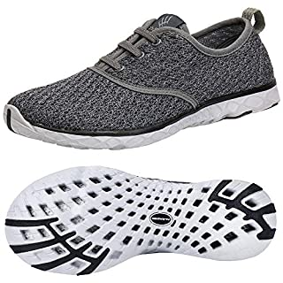 ALEADER Men's Stylish Quick Drying Water Shoes Gray 10.5 D(M) US