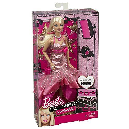 Barbie Fashionistas in The Spotlight Gown Doll, Pink]()