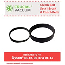 Dyson DC-04, DC-07 & DC-14 Clutch Belt Set, Set Includes one Clutch Belt & 1 Brush Belt, Compare to Part # 902514-01, Designed & Engineered by Crucial Vacuum
