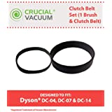 Dyson DC-04, DC-07 & DC-14 Clutch Belt Set, Set Includes one Clutch Belt & 1 Brush Belt, Compare to Part # 902514-01, Designed & Engineered by Think Crucial