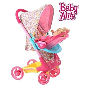 Amazon.com: Baby Alive Doll Stroller Travel System: Toys ...