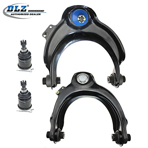 DLZ 4 Pcs Front Suspension Kit-2 Upper Control Arm Ball Joint Assembly 2 Lower Ball Joint Compatible with 1998-2002 Honda Accord 2001-2003 Acura CL 1999-2003 Acura TL RK620285 RK620284 K9643