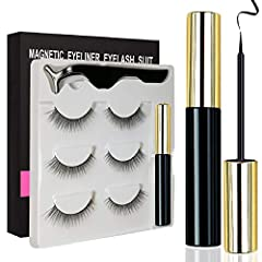 With Magnetic Eyelashes with Eyeliner Kit you can finally find a way to have longer and thicker eyelashes. Not only that, but it is very easy and convenient to apply. What you do is simply use the magnetic eyeliner and then put on the magneti...