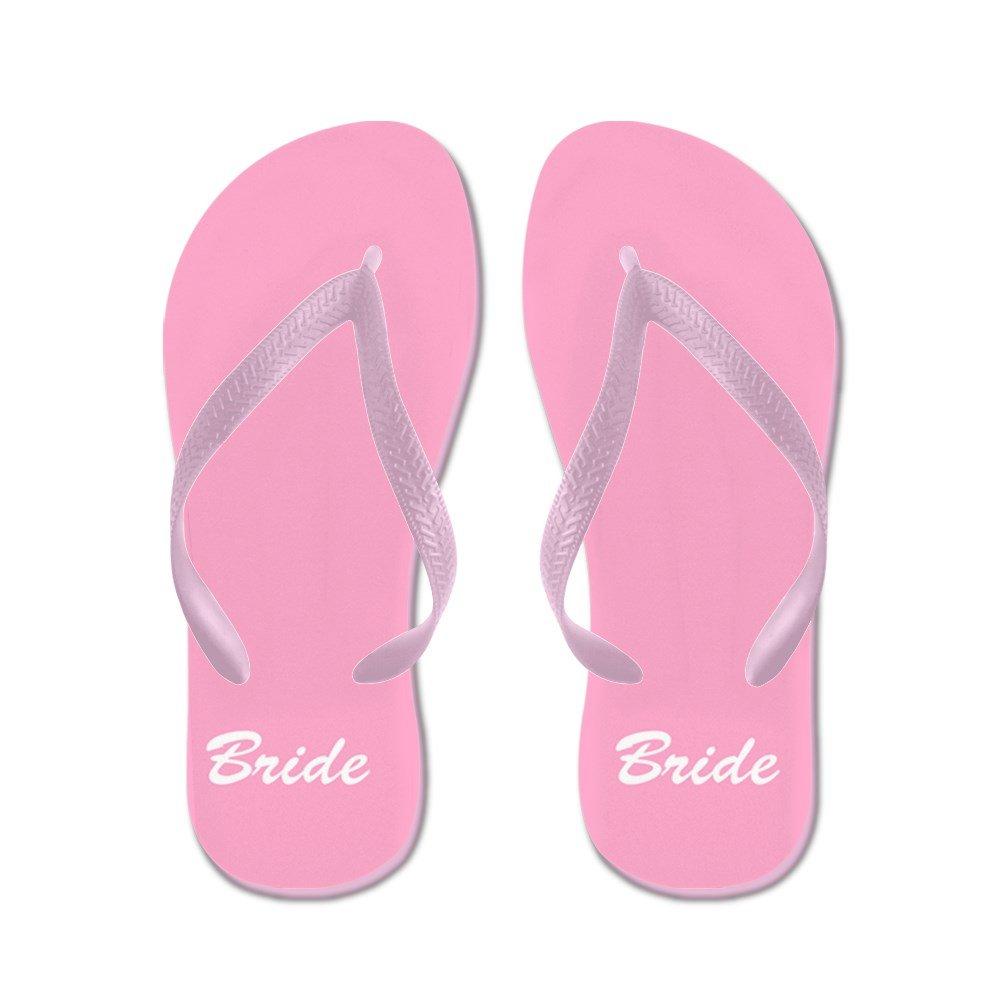 CafePress Bride and Groom Flip Flops - For Her - Flip Flops, Funny Thong Sandals, Beach Sandals