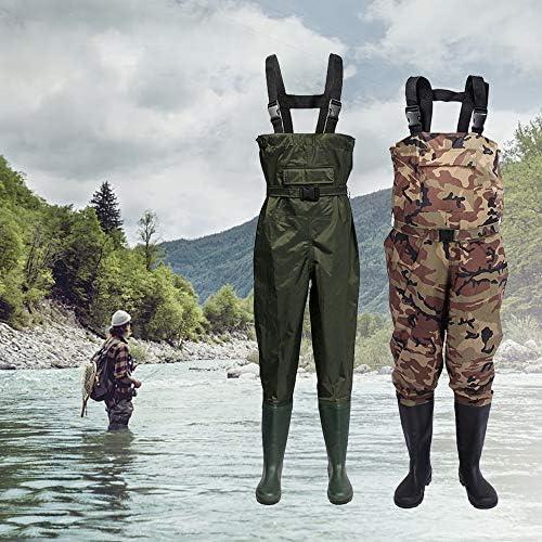 Lixada Vadeadores de Pesca Impermeable Unisexo de Nylon//PVC Pantal/ón de Pesca Bota Alta de Pesca
