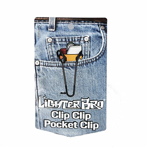 LighterBro ClipClip Pocket/Belt Clip Accessory for Bic Lighter Multitool (black) - DOES NOT INCLUDE THE MULTITOOL