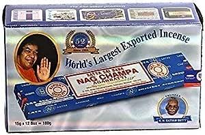 YesMandala Incienso Satya Nag Champa- Pack de 12 Cajas- 15 gr ...