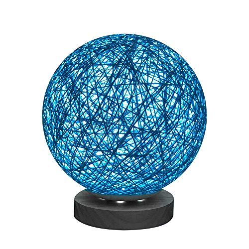 Amaping 3D Creative Fascinating Rattan Ball Bedside Lamp LED Light for Bedroom Desk Display USB Charging Night Light with 20cm Adjust Pedestal (Vine Twist Color C) ()