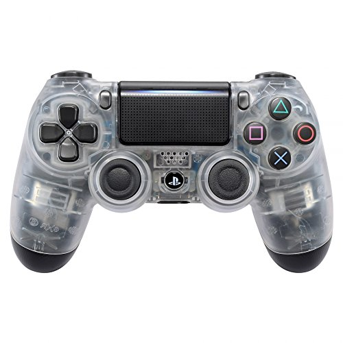 eXtremeRate Transparent Clear Faceplate Cover for PS4 Pro Slim Controller, Front Housing Shell Case for Playstation 4 Remote, Matte Replacement Kit for Dualshock 4 Controller JDM-040